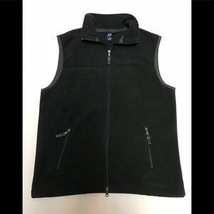 Gap men's medium black fleece vest full zip